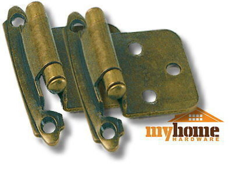 Cabinet Door Flush Hinges Antique Brass 50 Pairs Hinge Ebay