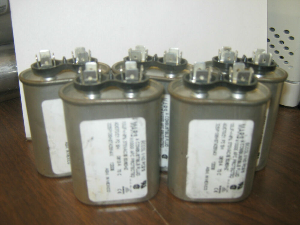 Mars 12008 Motor Start Capacitor 10 Mfd 370vac Lot Of 5 Ebay