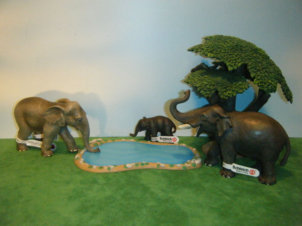 SCHLEICH ASIAN ELEPHANT #14144 CALF #14343 & NWHD FEMALE ... Lioness And Lion