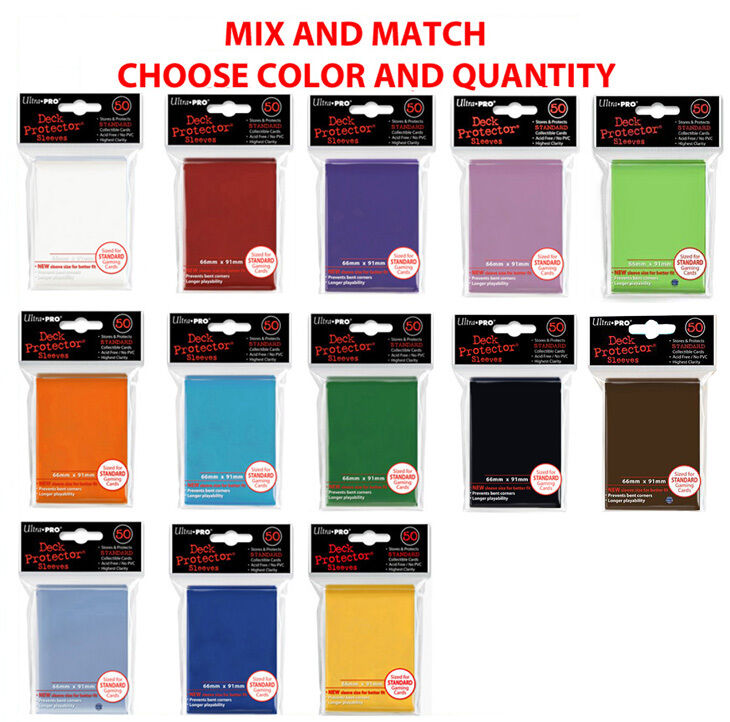 Ultra Pro DECK PROTECTOR Card Sleeves MIX MATCH COLORS Standard Size ...
