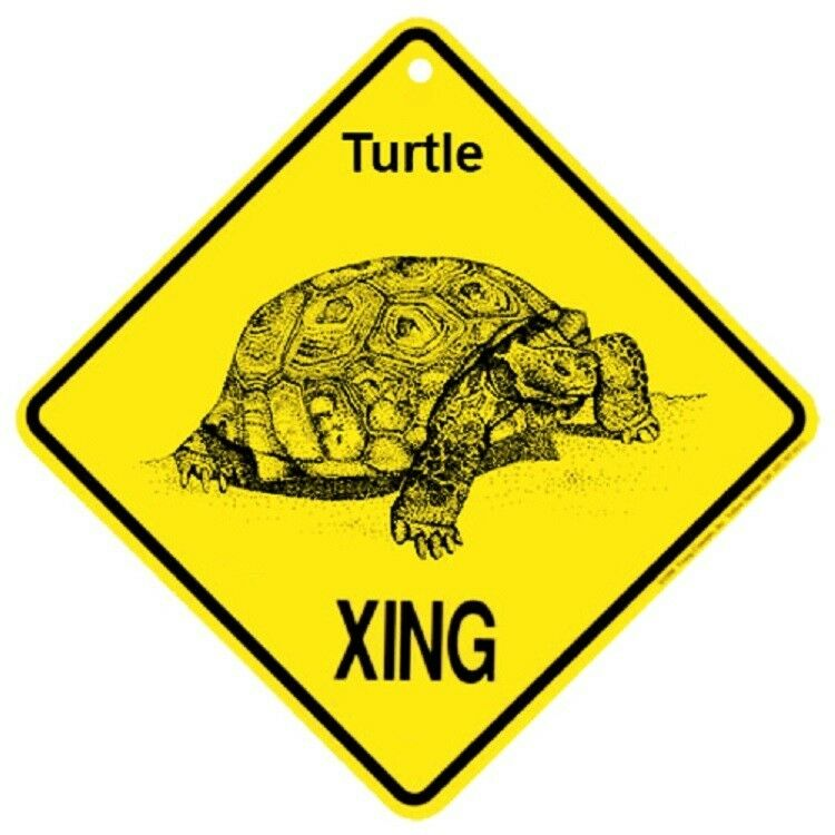 Turtle Crossing Xing Sign New Tortoise | eBay