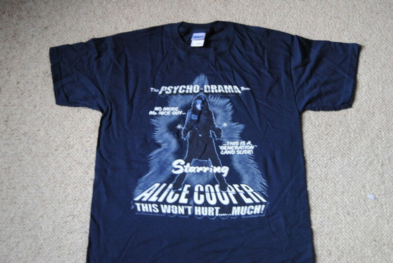 Alice Cooper Psycho Drama Tour T Shirt New Official Rare