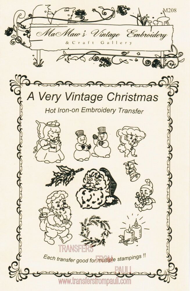A very vintage christmas hot iron transfers by mamaw s