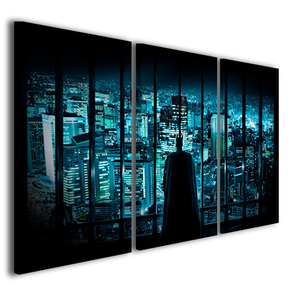 Quadro moderno batman pop art design arredamento casa ebay for Arredamento pop art