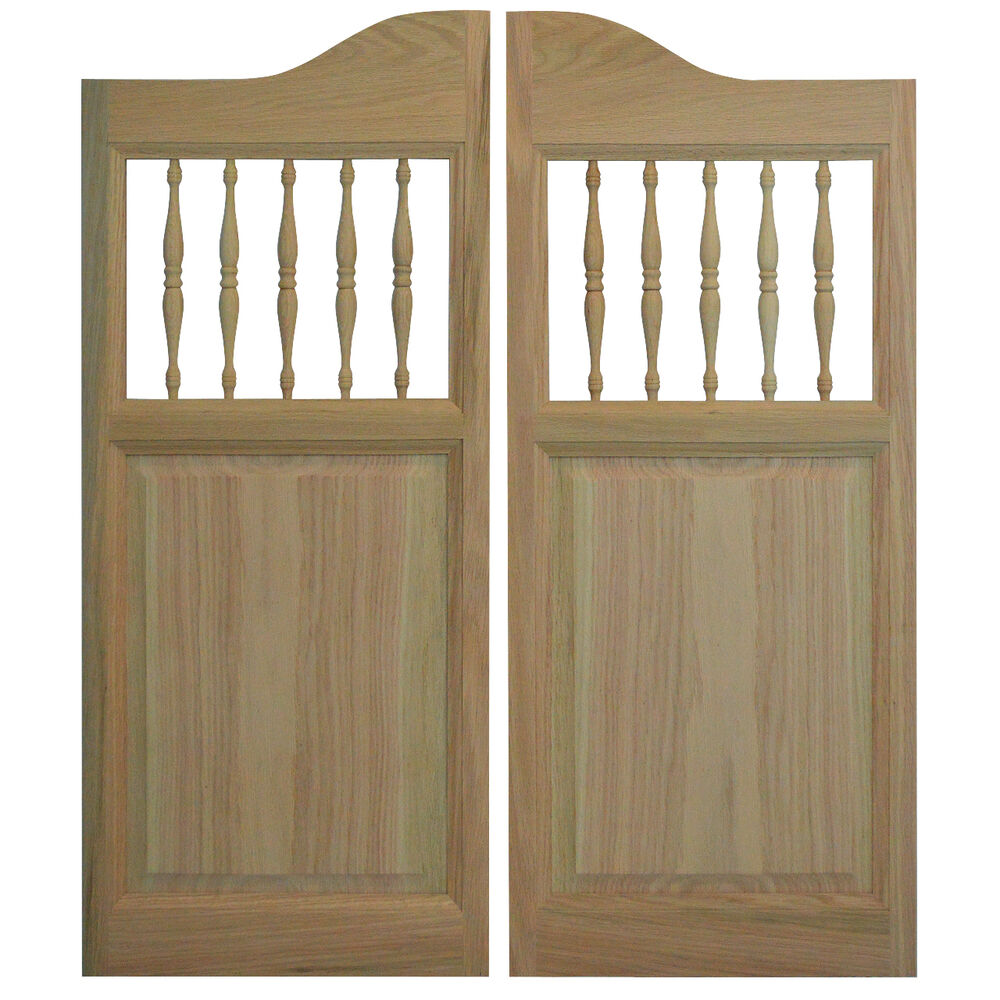Solid Oak Wood Western Cafe Saloon Doors 42 Quot 48 Quot W