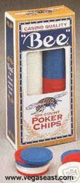 Bee poker chips