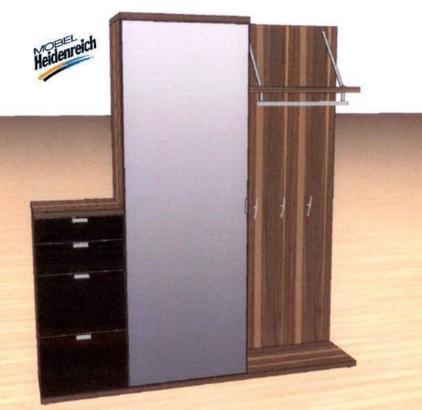 h lsta garderobe tameta nussbaum schwarz nr 990700 neu ebay. Black Bedroom Furniture Sets. Home Design Ideas