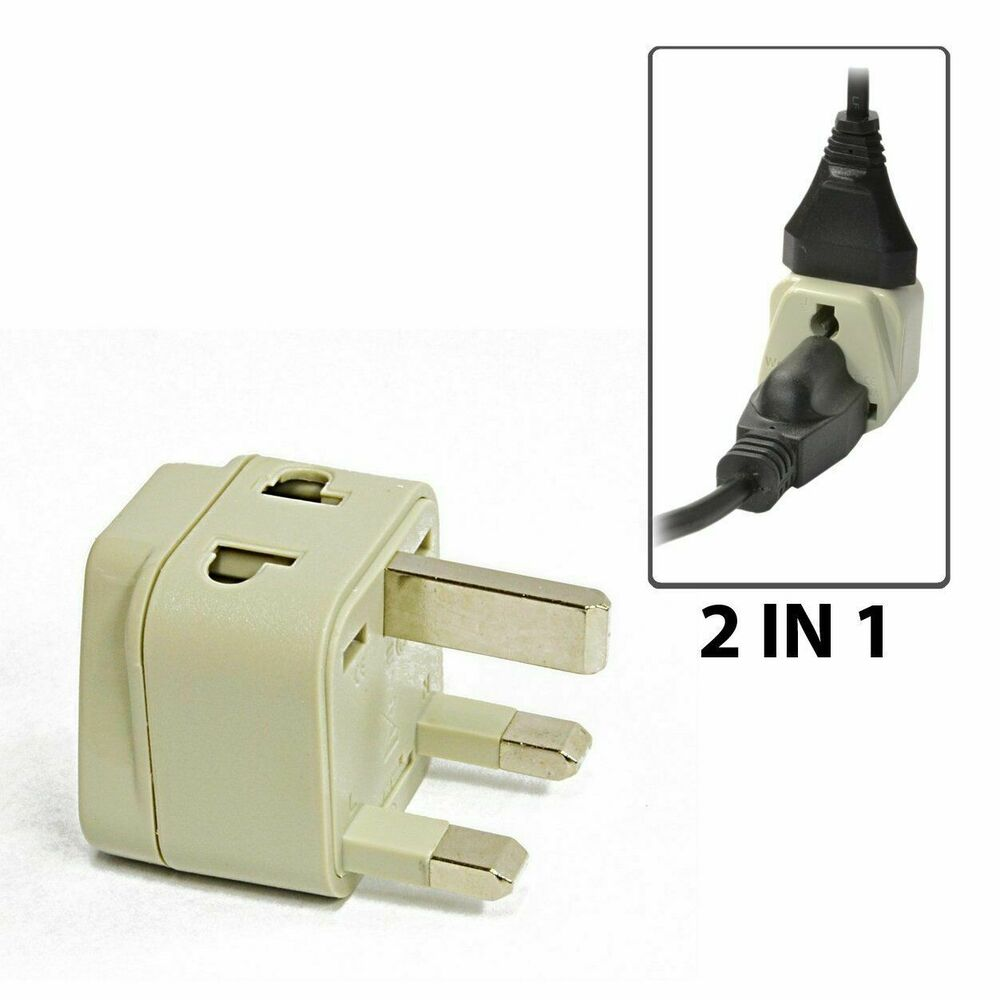 OREI 2 In 1 Travel Plug Adapter Type G For UK, Hong Kong
