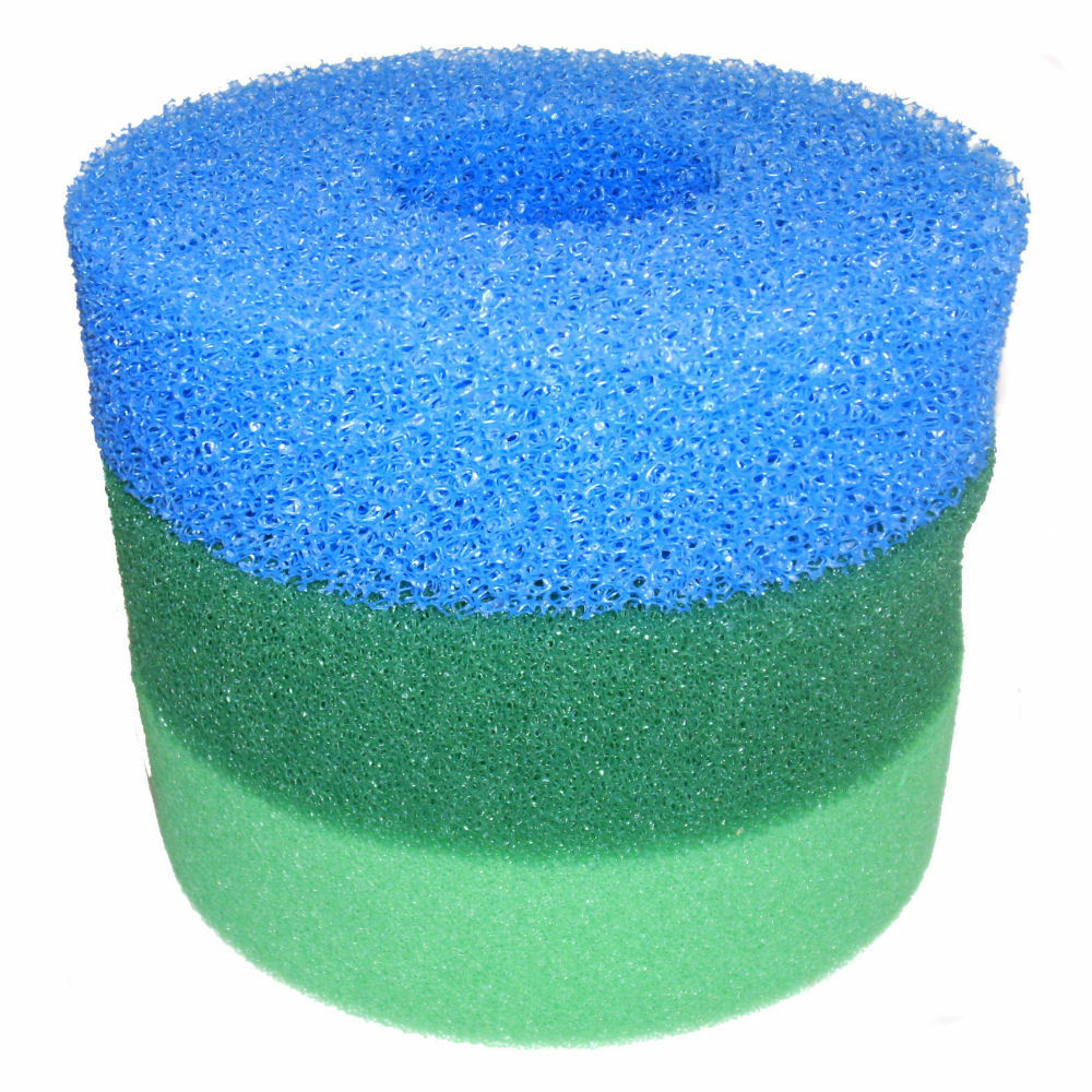 Hozelock bioforce 4500 foam replacement set ebay for Pond filter sponges