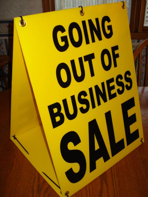 Going Out Of Business Sale Sandwich Sign 2