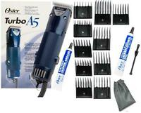 New Oster A5 2 Speed Turbo Animal dog horse Clipper/Blade/10 pc Comb Guides L@@k