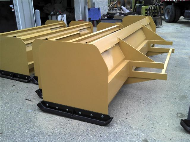 2 Blade Box Cat : New backhoe snow box pusher plow blade case cat john