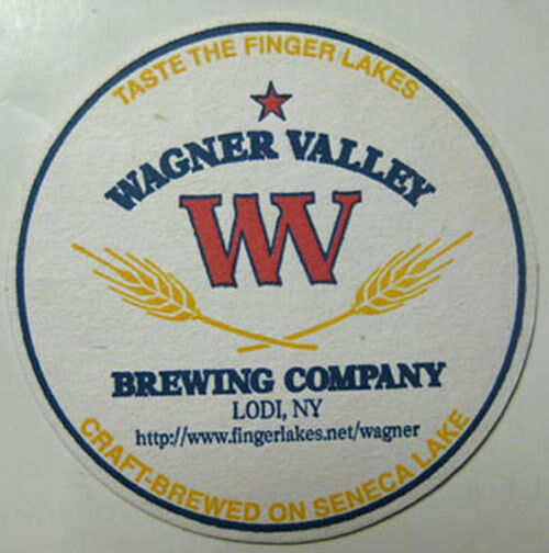 wagner valley brewing company beer coaster mat lodi new york seneca lake ebay. Black Bedroom Furniture Sets. Home Design Ideas