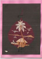 (06217) Greeting Card -  Indian craftsman hand made from rice straw blank inside