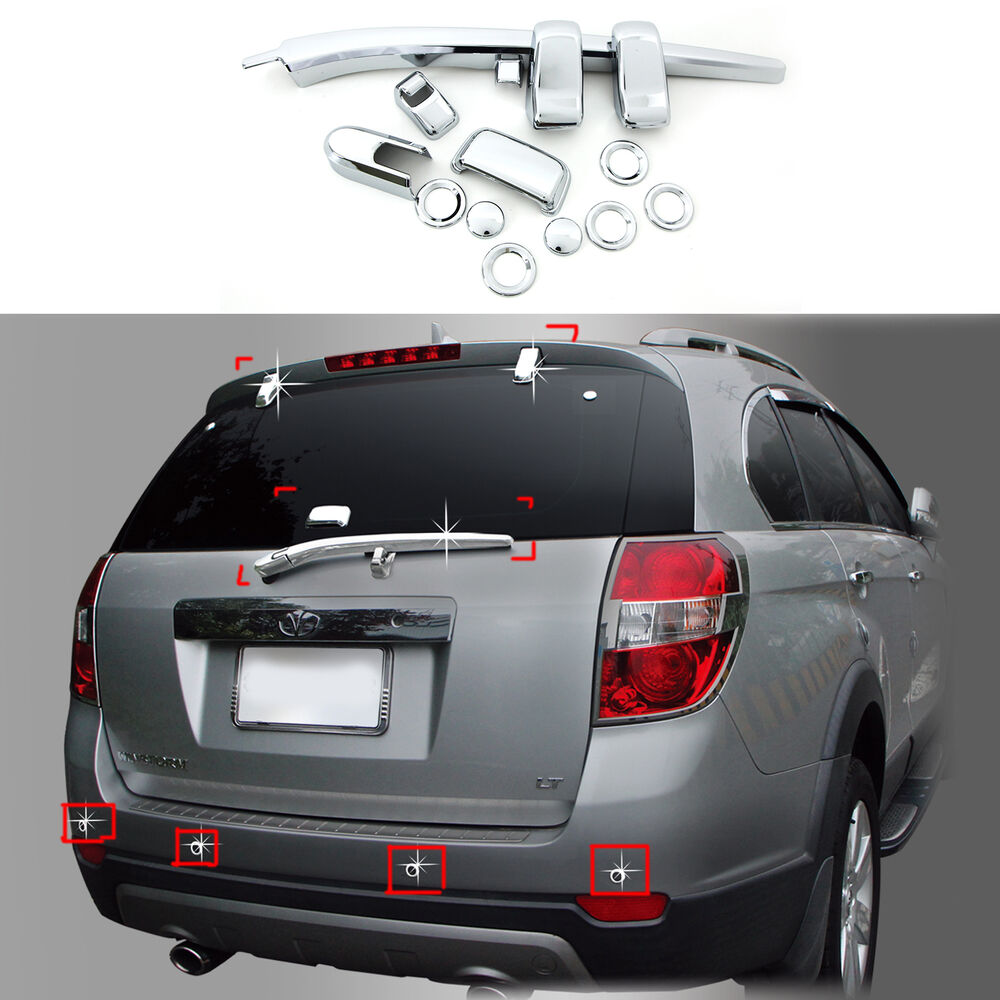 2012 Chevy Captiva Accessories: Chrome Exterior Rear Tail Gate Molding Trim Cover For 06