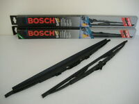 Bosch Front Wiper Blades With Drivers Side Spoiler - Pair (24S16a)