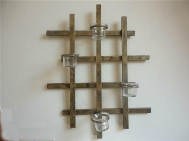 Decorative Iron Candle Holder Sconce Wall Art Vertical