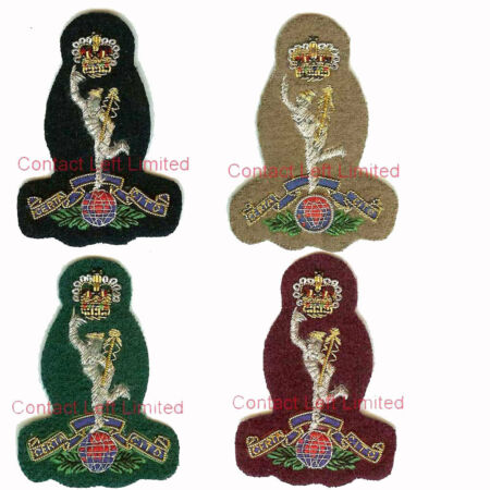 img-Official Royal Signals Officers Cap Badges Wire Embroided ( SAS PARA Commando