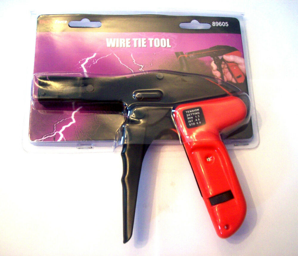 electra wire cable zip tie gun tool tightens cuts