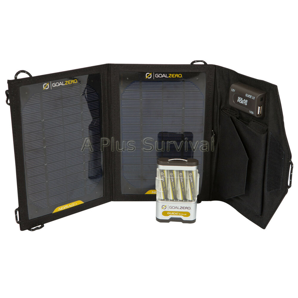 Goal Zero Guide 10 Plus Adventure Kit Solar Panel Power