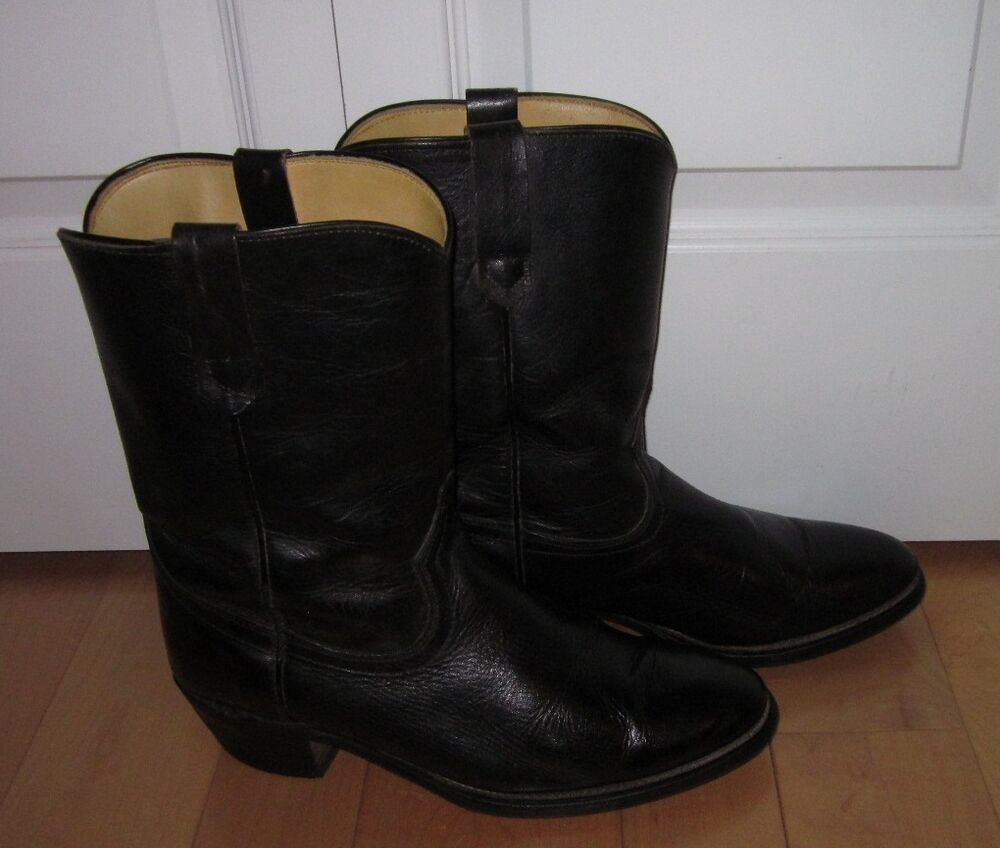 american classics mens black leather cowboy boots made in