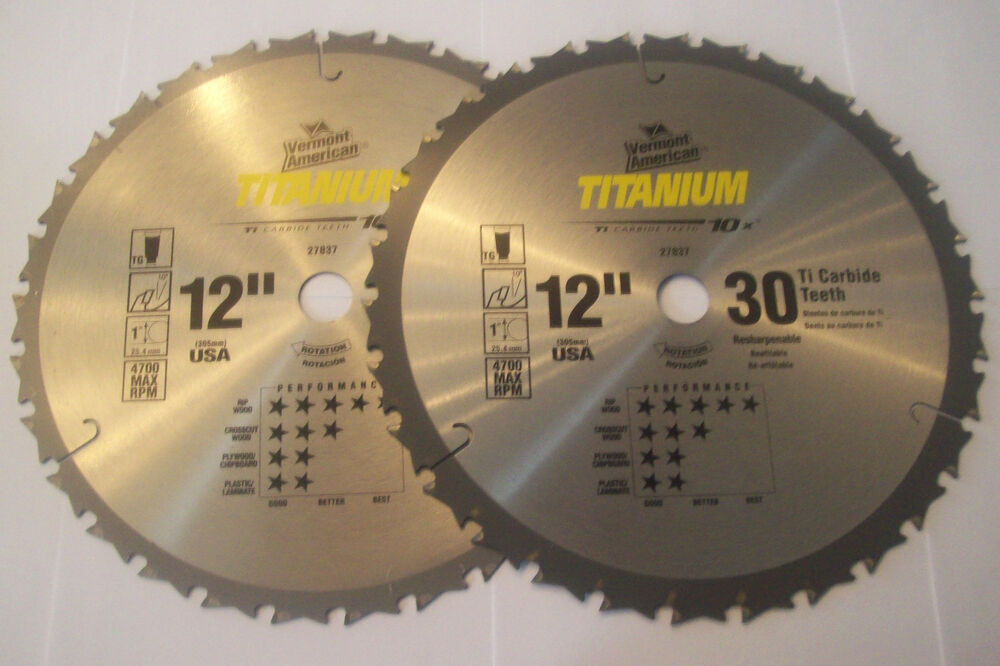 2 va by bosch 12 titanium circular table miter saw blades for 12 inch table saw blades