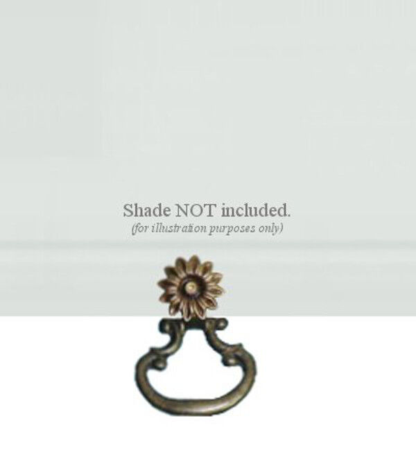 Roller Window Shade SNAP-ON Large Bronze METAL RING PULL Clip on NO ...