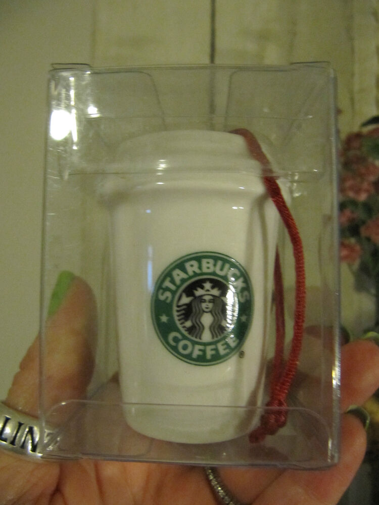 starbucks coffee  u2605 white old logo to go hot cup mug