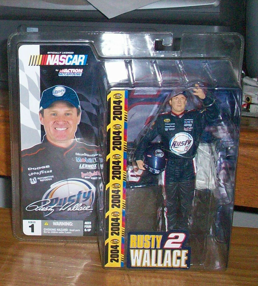 mcfarlane nascar 1 rusty wallace 2 racing action figure nextel cup ebay. Black Bedroom Furniture Sets. Home Design Ideas