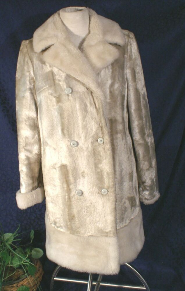Vintage 50s Betty Rose Timma Tation Pearl Faux Fur Seal