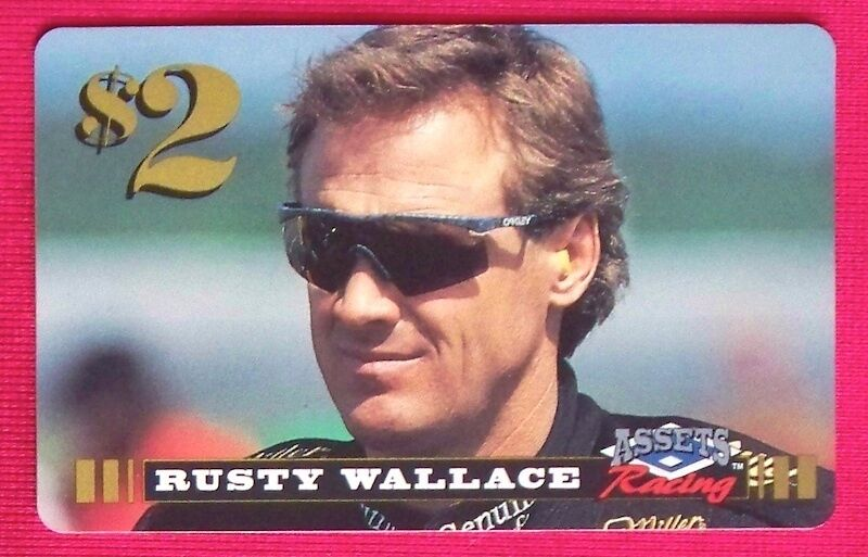 rusty wallace 1996 finish line assets nascar racing 2 phone card 852 4789 ebay. Black Bedroom Furniture Sets. Home Design Ideas