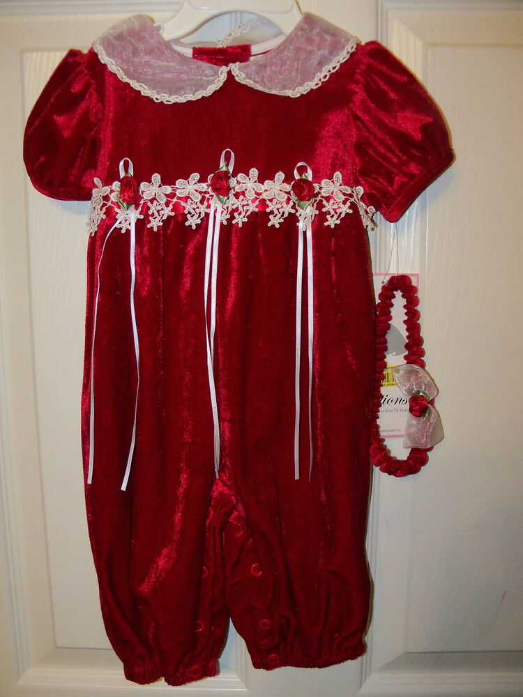 Valentine s Day Velvet Outfit Rare Editions Infant Baby