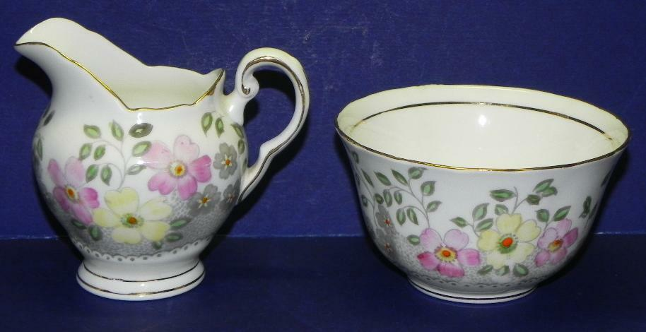 Tuscan English Bone China Floral Sugar Amp Creamer 2440 Ebay