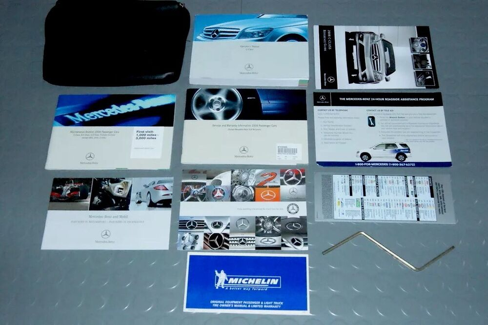 2008 mercedes benz c230 c300 c350 owners manual set ebay for Mercedes benz c300 manual