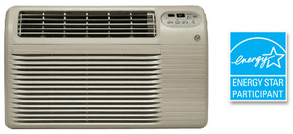 Ge thru wall air conditioner 10000 btu cool only ajcq10acd for 12000 btu window air conditioner 220v