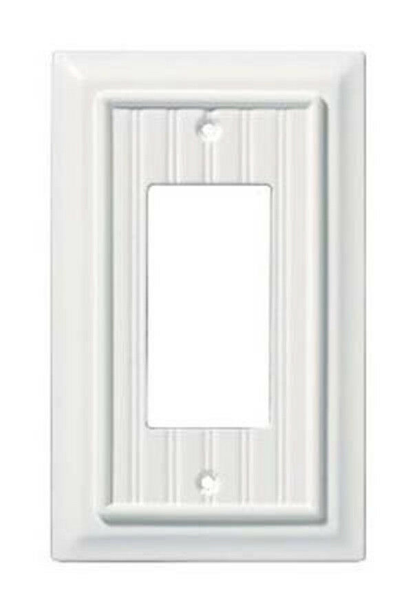 126357 White Beadboard Wood Architect Single GFCI Cover