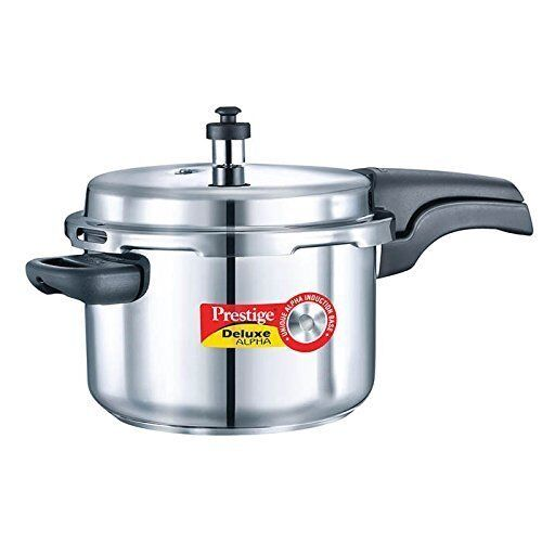 prestige 4 liter alpha deluxe stainless steel pressure cooker 8901365206040 ebay. Black Bedroom Furniture Sets. Home Design Ideas
