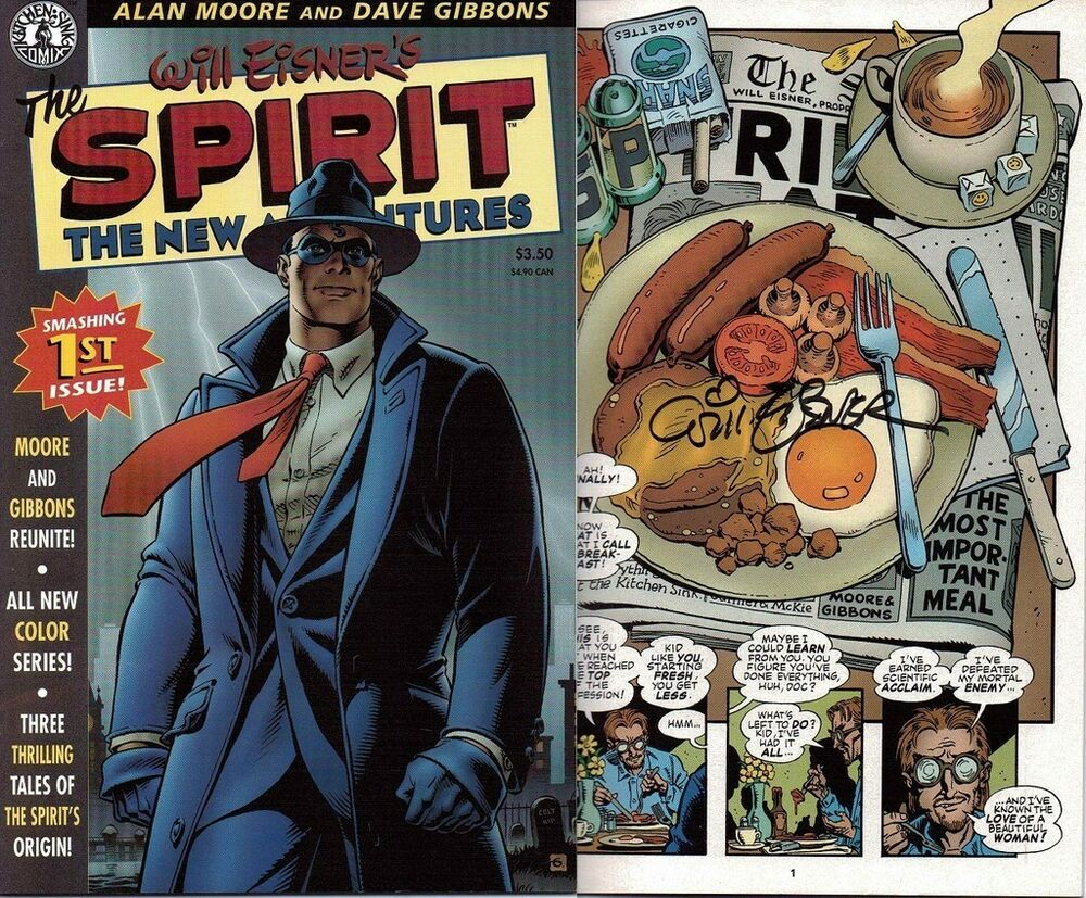kitchen sink comics signed will eisner 1st print the spirit new adventures 1 2631