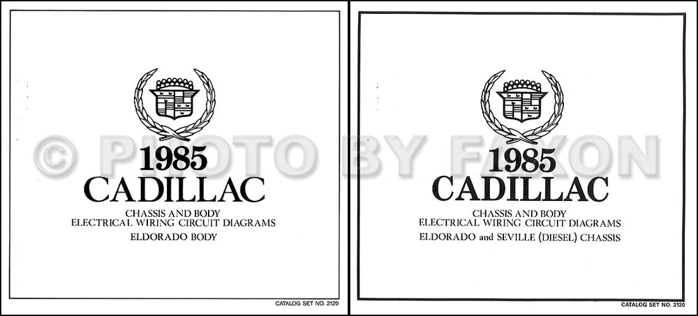 1985 Cadillac Eldorado Diesel Wiring Diagram Set Color