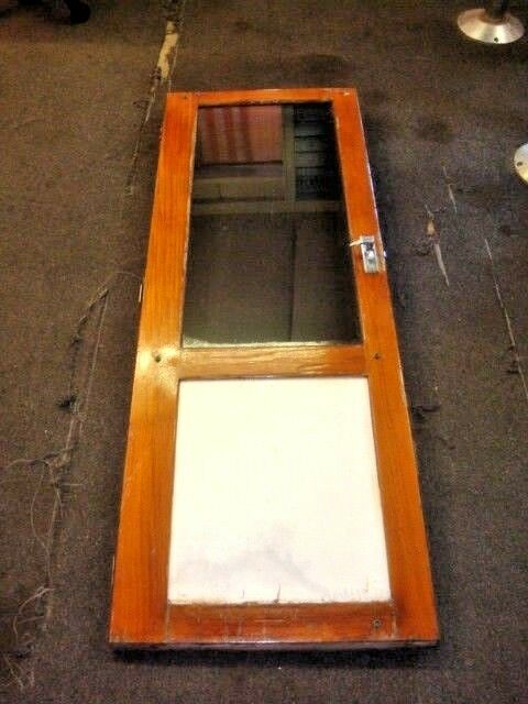 1988 bayliner trophy cabin entry door wood and glass ebay for Boat cabin entry doors