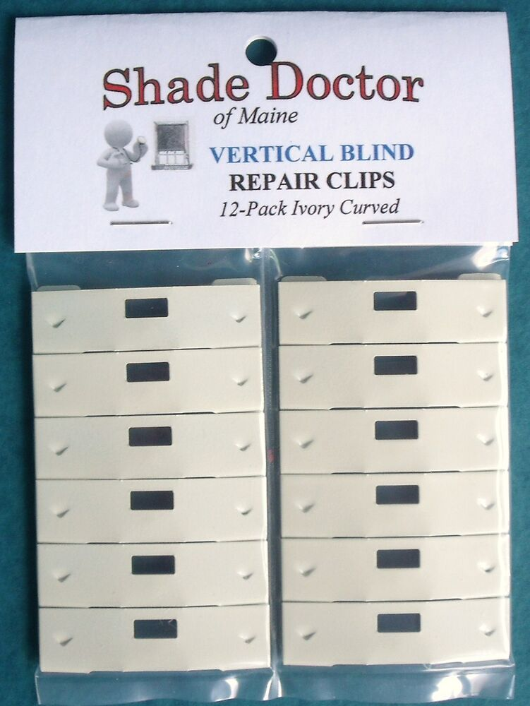 Original Shade Doctor Vertical Blind Ivory Curved Vane