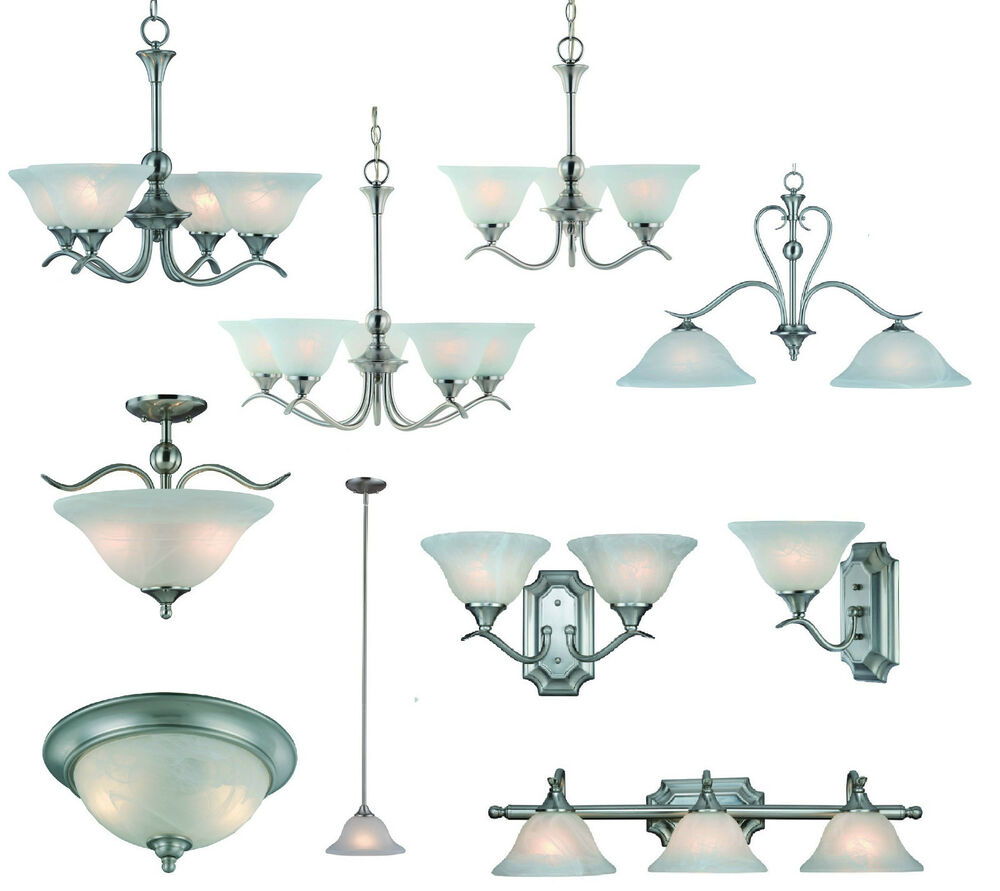 Satin Nickel Bathroom Vanity Ceiling Lights Chandelier Lighting Fixtur