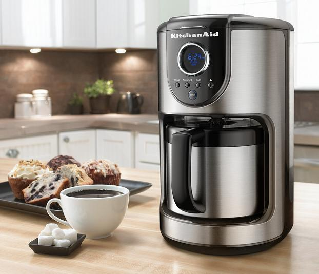 Gevalia Coffee Maker With Grinder : KitchenAid 10-Cup Digital Thermal St Steel Carafe Coffee Maker KCM112OB Thermal 883049216263 eBay