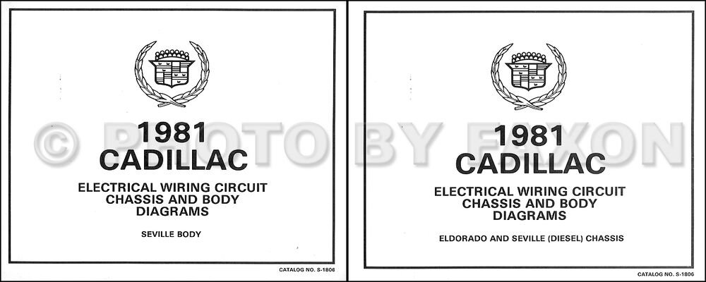 1981 Cadillac Seville Diesel Foldout Wiring Diagram Color