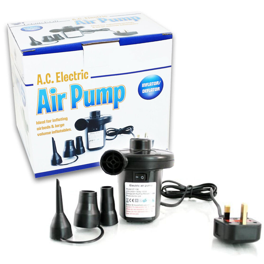 Ukhs 240v Electric Air Pump For Toy Pool Airbed Camp Blow