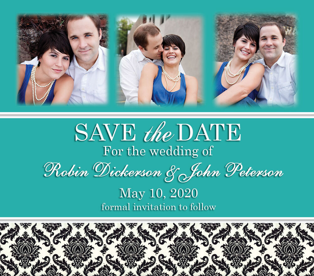 Large Save The Date Wedding Invitation Magnets Favors