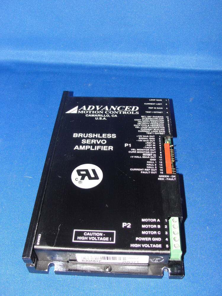 Advanced Motion Controls B30a8ip Brushless Servo Amplifier Ebay
