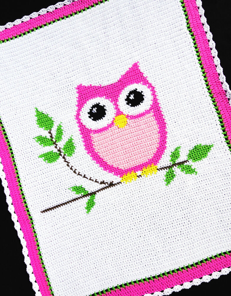 Crochet Patterns Pink Owl Baby Girl Afghan Pattern