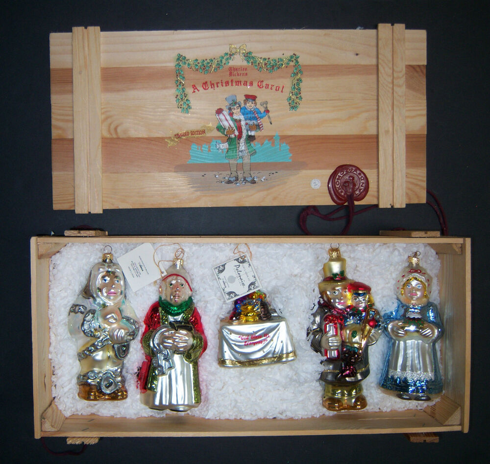 Limited Edition Luxury Christmas Ornaments: Polonaise Charles Dickens A Christmas Carol Limited
