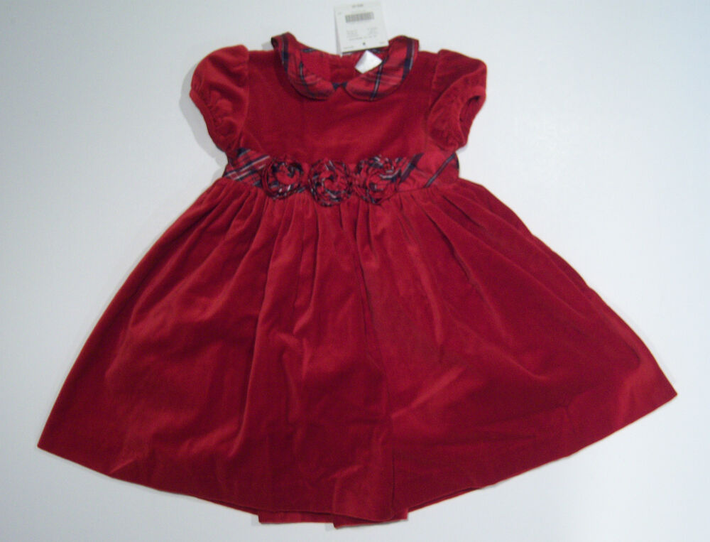 NWT Janie and Jack Holiday Traditions 18-24 Red Velveteen ...